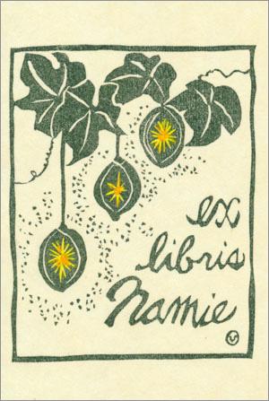 exlibris Namie 蔵書票